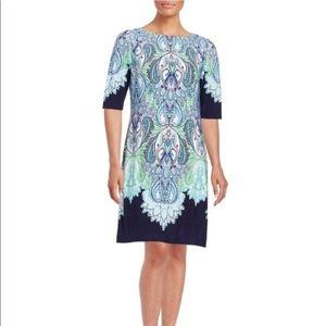 Eliza J Scroll Print Shift Dress